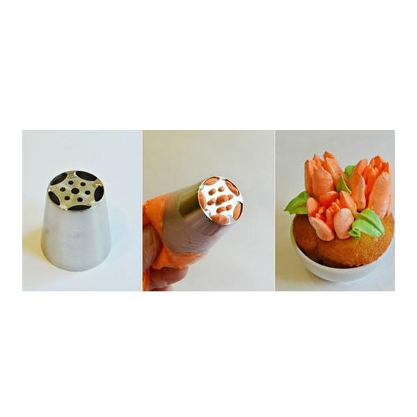 Spritztülle - Tulpe (5 Blatt)