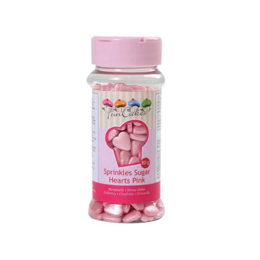 Streudekor - Zuckerherzen, pink
