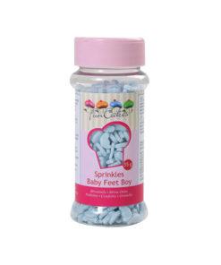 Streudekor - Baby Füsschen, blau