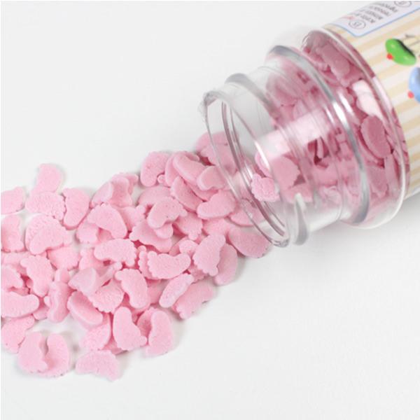 Streudekor - Baby Füsschen, pink
