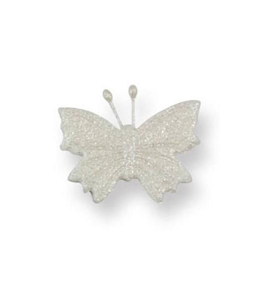 Zuckerdekor - Schmetterlinge, weiss