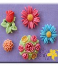 Silikonform - Blumen