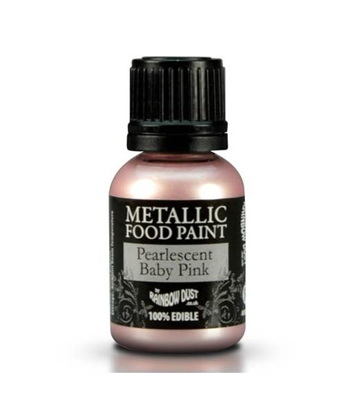 Lebensmittelfarbe - Metallic Pink (hell)