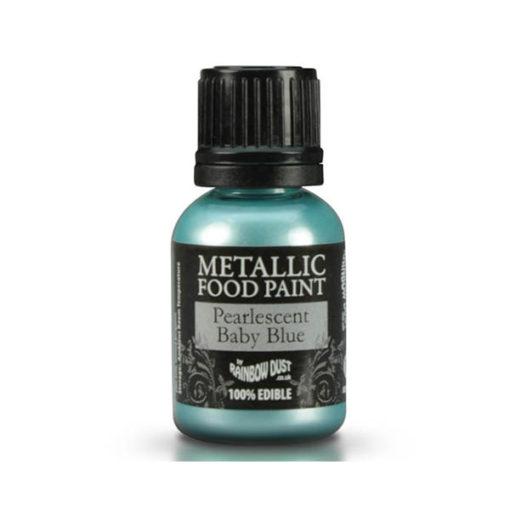 Lebensmittelfarbe - Metallic Blau (hell)