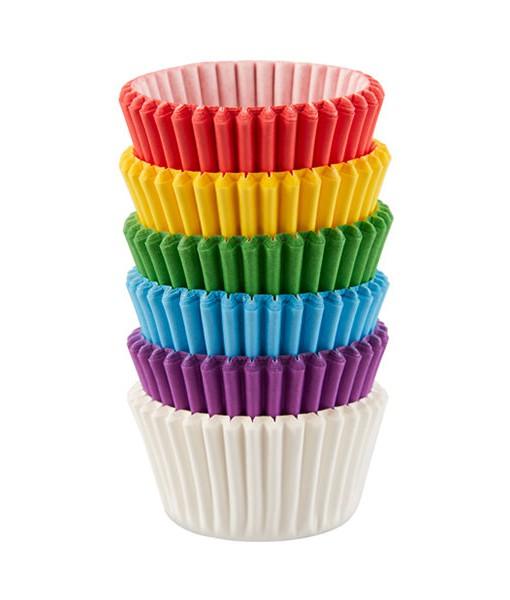 Papierbackförmchen - Regenbogen (mini)