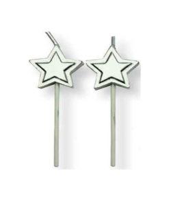 Geburtstagskerze Sterne, silber