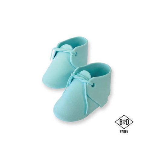 Zuckerdekor Babyschuhe, blau