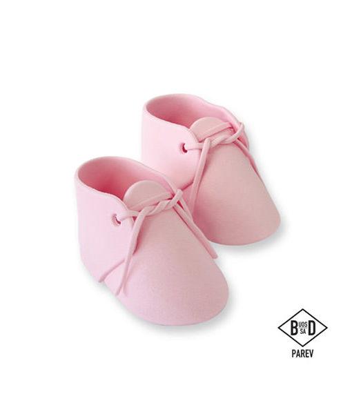 Zuckerdekor Babyschuhe, pink