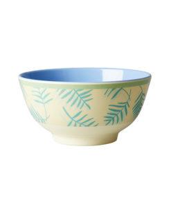 Rice Schüssel Palmblätter