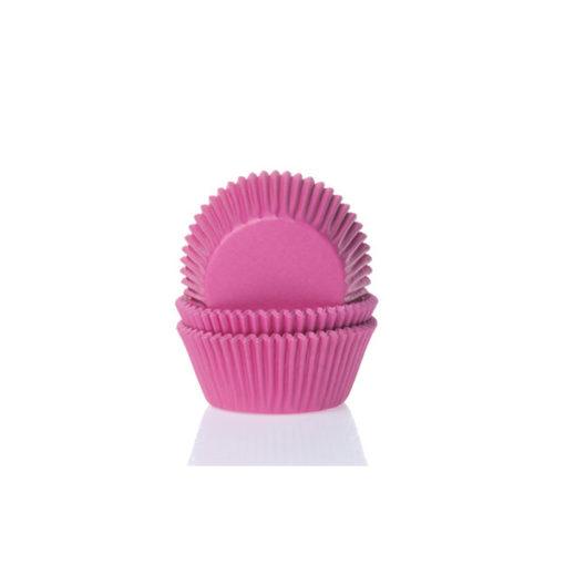 Papierbackförmchen - pink (dunkel), mini