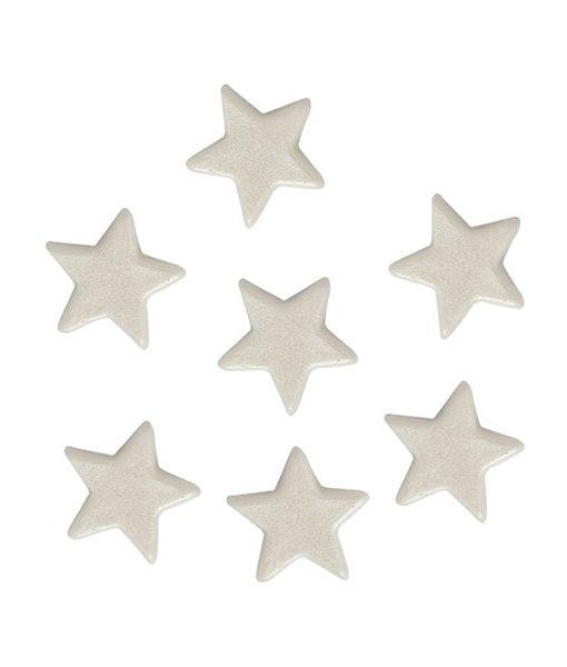 Streufiguren - Fondant Sterne, weiss