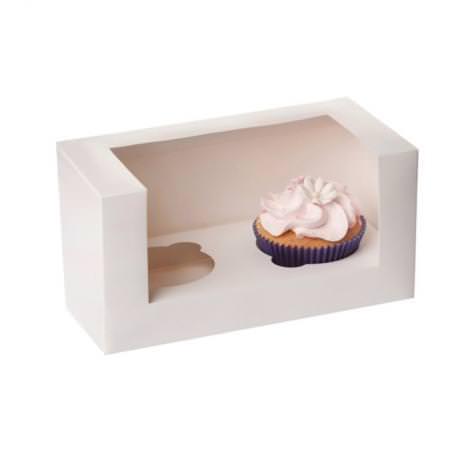 2er Cupcake Box - weiss