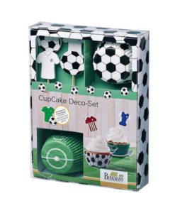 Cupcake Set Fussball