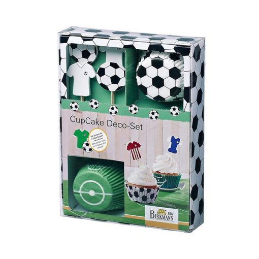 Cupcake Set Fussball