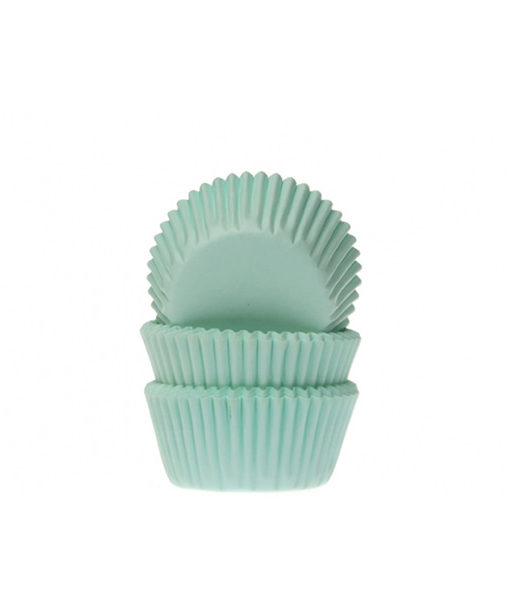 Papierbackförmchen - mint, mini