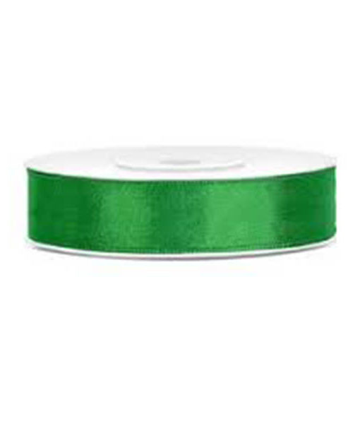 Satinband - grün, 12mm