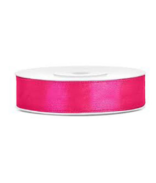 Satinband - hot pink, 12mm