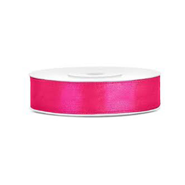 Satinband - hot pink, 12mm