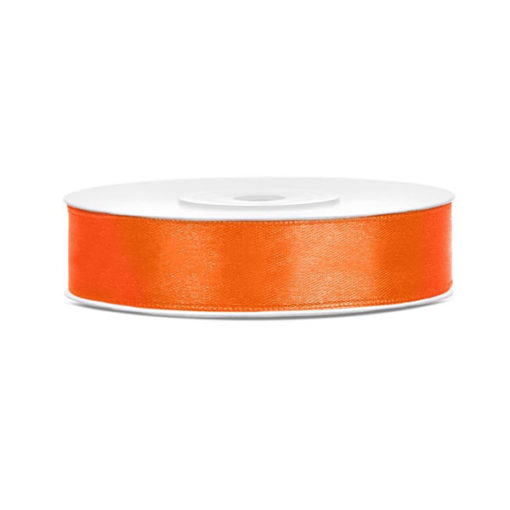 Satinband - orange, 12mm