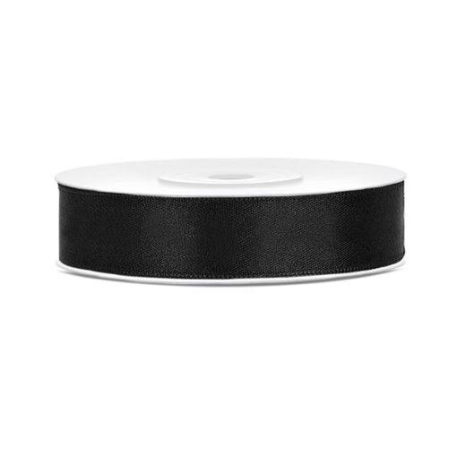 Satinband - schwarz, 12mm