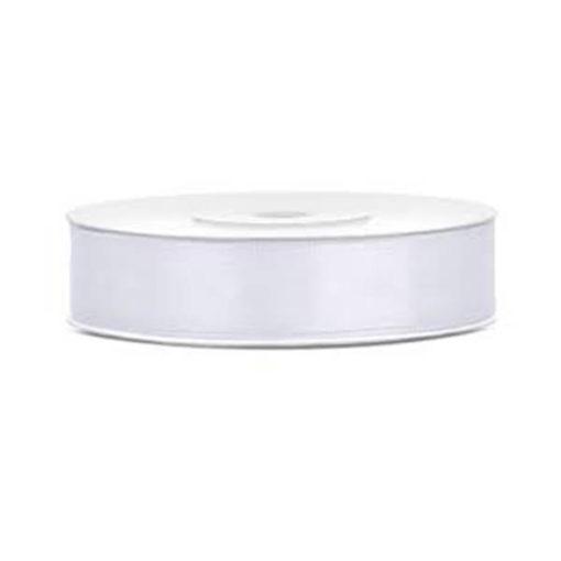 Satinband - weiss, 12mm