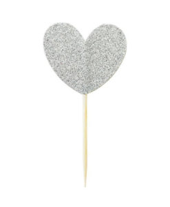 Miss Étoile Deko-Stick Big Heart Silver