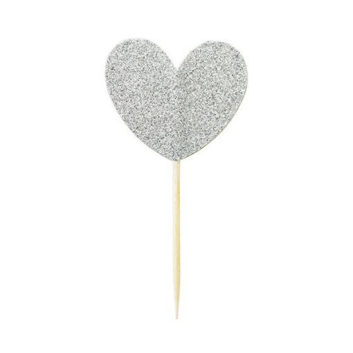 Miss Étoile Deko-Stick Big Heart Silver