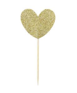 Miss Étoile Deko-Stick Big Heart Gold