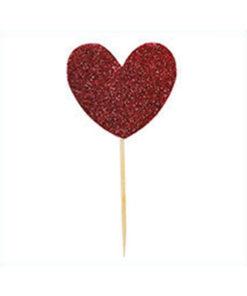 Miss Étoile Deko-Stick Big Heart Red