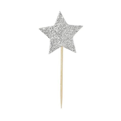 Miss Étoile Deko-Stick Big Star Silver