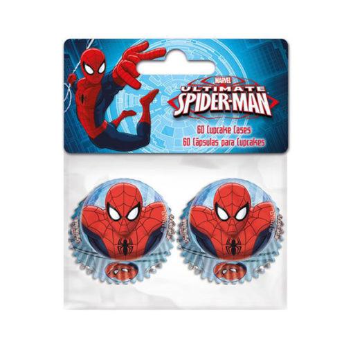 Papierbackförmchen - Spiderman mini