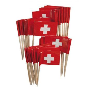 Schweizer Fahne Topper 100Stk.