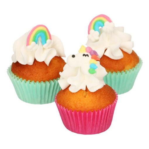 Zuckerdekor Einhorn & Regenbogen