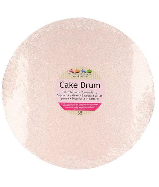Tortenplatte - rund (30cm) rosè