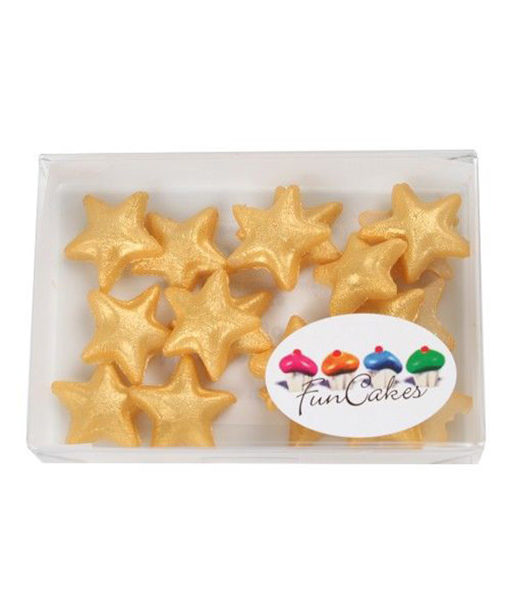 Zuckerdekor Marzipan Sterne gold