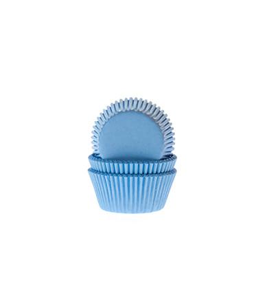 Papierbackförmchen - blau (hell), mini