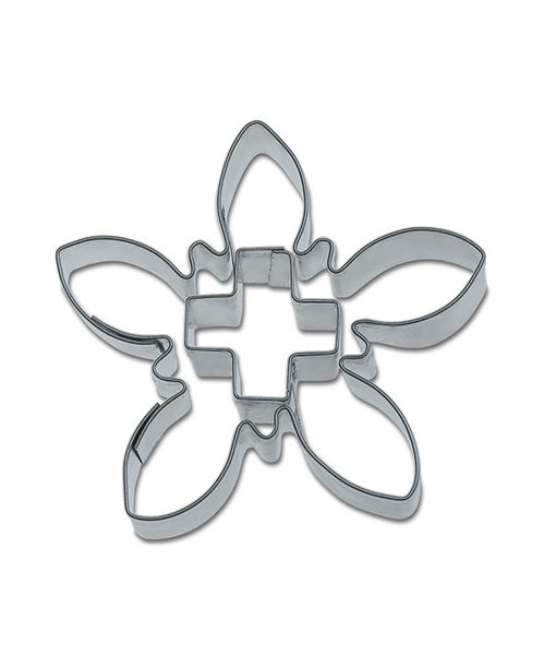 Ausstecher - Edelweiss mit Kreuz