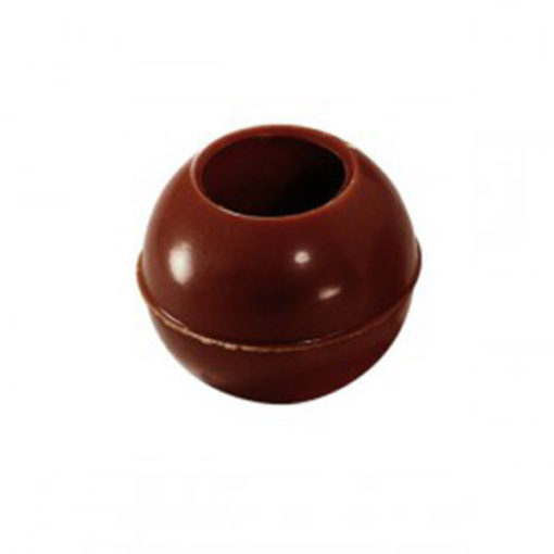 Pralinen Hohlkugel aus Zartbitterschokolade