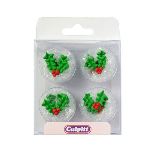 Zuckerdekor Holly & Berry, Stechpalmenblätter