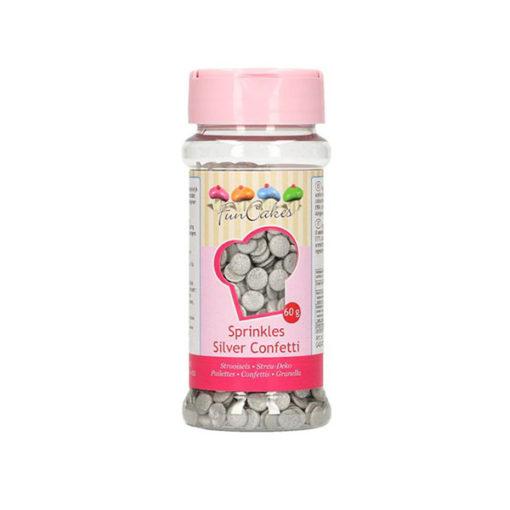 FunCakes Streusel Confetti silber