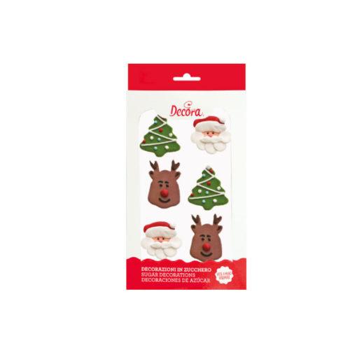 Zuckerdekor Weihnachten, 6 Stück
