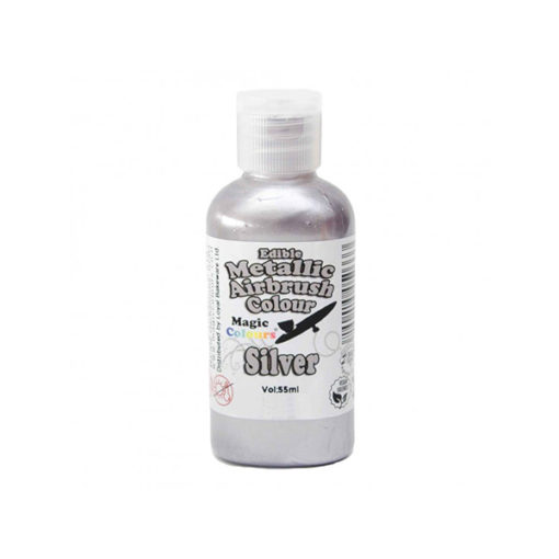 Magic Colour Airbrush Lebensmittelfarbe - silber metallic