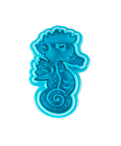 Ausstecher - Seepferdchen, blau