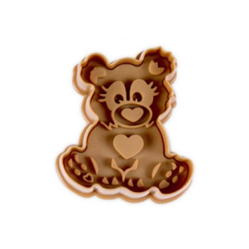 Ausstecher - Bär, braun
