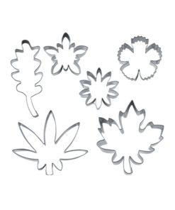 Ausstecher Set - Blüten und Blätter
