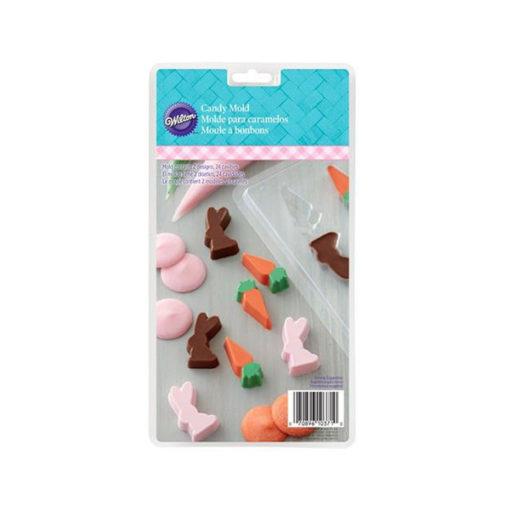 Mould Hasen und Karotten - Schokoladenform