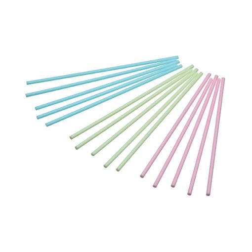 Cake Pops Stiele – pink, blau, grün