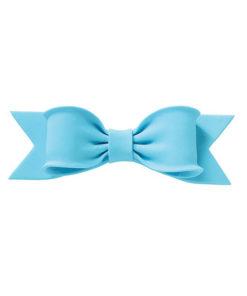 Zuckerdekor - Schleife blau 15cm