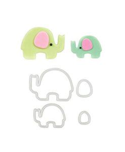 Ausstecher - Elefant Mama & Baby