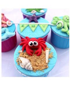 Silikonform - Krabbe & Fische